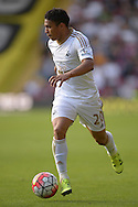 Jefferson Montero of Swansea City in action. Barclays Premier League, Watford v Swansea city at Vicarage Road in London on Saturday 12th September 2015.<br /> pic by John Patrick Fletcher, Andrew Orchard sports photography.