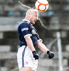 Raith Rovers Simon Mensing.<br /> Raith Rovers 0 v 0 Falkirk, 27/4/2013.<br /> © Michael Schofield.