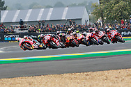 MotoGP race action during racing on the Bugatti Circuit at Le Mans, Le Mans, France on 19 May 2019.