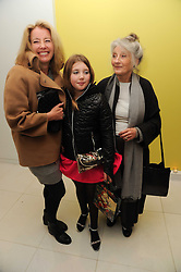 Left to right, EMMA THOMPSON, her daughter GAIA and PHYLLIDA LAW at the launch of the English National Ballet's Christmas season 2009 held at the St.Martin;s Lane Hotel, London on 15th December 2009.