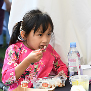 London, England, UK. 31th September, 2018. Hundreds hungry people enojy Chinese food at the 2018 Chinese Food Festival at Potters Fields Park, London, UK.