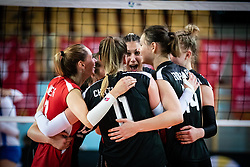 Players of Austria rejoicing after winning a point during volleyball match between Bosnia & Herzegovina and Austria in CEV Volleyball European Silver League 2021, on 12 of June, 2021 in Dvorana Ljudski Vrt, Maribor, Slovenia. Photo by Blaž Weindorfer / Sportida