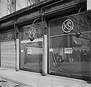 Jewish Shops with Mandatory Signs, Linz, Austria, circa 1938