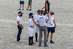 Bond Ashlee, ISR, Dubbeldam Jeroen, NED, Horn Hans, NED<br /> Olympic Games Tokyo 2021<br /> © Hippo Foto - Dirk Caremans<br /> 06/08/2021