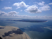 Nederland, Noord-Holland, Texel 07-05-2021; Marsdiep met Noorderhaaks, onbewoonde zandplaat - eiland in wording, onder in beeld. Zicht op de kop van Noord-Holland met Den Helder.<br /> Marsdiep with Noorderhaaks, uninhabited sandbar - island in the making, at the bottom of the screen. View of the head of North Holland with Den Helder.<br /> <br /> luchtfoto (toeslag op standard tarieven);<br /> aerial photo (additional fee required)<br /> copyright © 2021 foto/photo Siebe Swart