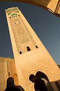 Tower of Hassan II Mosque in Casablanca, Morocco