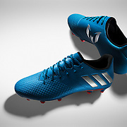 Adidas football boots product photography photographed by professional advertising photographer Stuart Freeman.