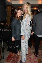 Left to right, FRANCESCA VERSACE and TAMARA BECKWITH at the Cavan.com Pop-Up sale held at The Belgraves Hotel, 20 Chesham Place, London on 20th May 2014.