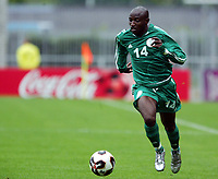 Fotball <br /> FIFA World Youth Championships 2005<br /> Emmen<br /> Nederland / Holland<br /> 12.06.2005<br /> Foto: Morten Olsen, Digitalsport<br /> <br /> Brasil v Nigeria 0-0<br /> <br /> David Abwo - Nigeria