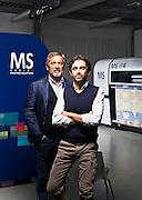 Luigi e Paolo Milini, padre e figlio, proprietari di MS Printing, azienda leader nella produzione di stampanti su carta e su tessuto.