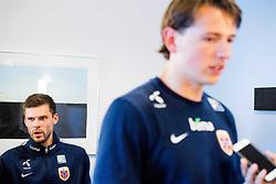 May 29, 2018 - Sandvika, NORWAY - 180529 Goalkeeper Rune Almenning Jarstein and Sander Berge of Norway during a press event on May 29, 2018 in Sandvika..Photo: Jon Olav Nesvold / BILDBYRÃ…N / kod JE / 160260 (Credit Image: © Jon Olav Nesvold/Bildbyran via ZUMA Press)