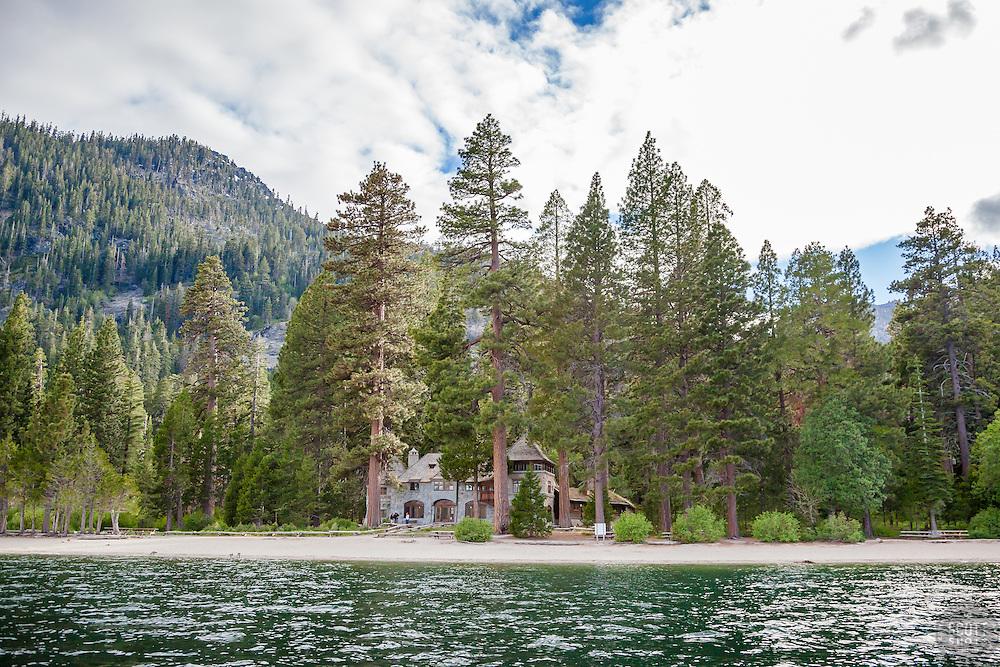 """Vikingsholm 2"" - Photograph of Lake Tahoe's Vikingsholm ""castle"" in Emerald Bay."
