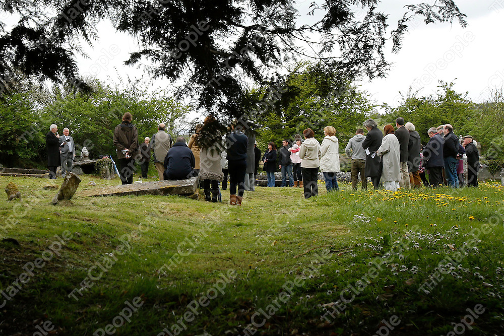 05/05/2013<br /> John Bradley PRO of Clare Roots Society and Cllr Peter Considine, Mayor of Ennis pictured at Drumcliffe Cemetery, Ennis at the unveiling of a memorial in memory of the victims of the Great Famine.<br /> Picture: Don Moloney / Press 22