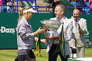Caroline Wozniacki (DEN) Wins at the Nature Valley International at Devonshire Park, Eastbourne, United Kingdom on 30th June 2018. Picture by Jonathan Dunville.