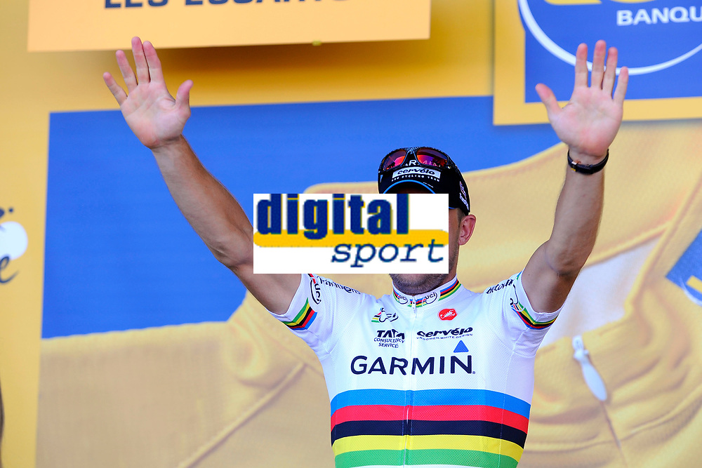 CYCLING - TOUR DE FRANCE 2011 - STAGE 2 - Team Time Trial Les Essarts > Les Essarts (23 km) - 03/07/2011 - PHOTO : JULIEN CROSNIER / DPPI - THOR HUSHOVD (NOR) / TEAM GARMIN - CERVELO