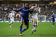 Ruben Loftus-Cheek of Chelsea and Joe Walsh of MK Dons compete for the ball. The Emirates FA cup, 4th round match, MK Dons v Chelsea at the Stadium MK in Milton Keynes on Sunday 31st January 2016.<br /> pic by John Patrick Fletcher, Andrew Orchard sports photography.