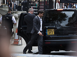 Downing Street,  London, June 27th 2015. Justice Secretary Michael Gove leaves the first post-Brexit cabinet meeting at 10 Downing Street, after a rumoured meeting between Prime Minister David Cameron, Boris Johnson and himself, sneaking out via the side entrance of the Cabinet Office.