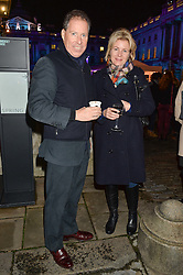 VISCOUNT & VISCOUNTESS LINLEY at Skate at Somerset House in association with Fortnum & Mason held on 10th November 2014.