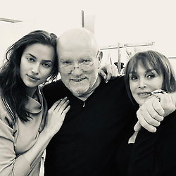 """Irina Shayk releases a photo on Instagram with the following caption: """"Today on set with these two legends @therealpeterlindbergh @babethdjian \u2764\ufe0f\u2764\ufe0f"""". Photo Credit: Instagram *** No USA Distribution *** For Editorial Use Only *** Not to be Published in Books or Photo Books ***  Please note: Fees charged by the agency are for the agency's services only, and do not, nor are they intended to, convey to the user any ownership of Copyright or License in the material. The agency does not claim any ownership including but not limited to Copyright or License in the attached material. By publishing this material you expressly agree to indemnify and to hold the agency and its directors, shareholders and employees harmless from any loss, claims, damages, demands, expenses (including legal fees), or any causes of action or allegation against the agency arising out of or connected in any way with publication of the material."""