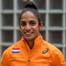 22-03-2017 NED: Teampresentatie EK Atletiek Indoor, Arnhem<br /> Madiea Ghafoor tijdens de teampresentatie van het atletiek EK indoor op Papendal.