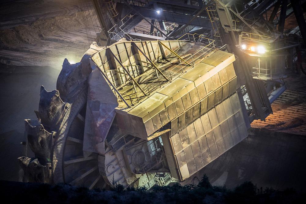 Elsdorf, DEU, 08.06.2018<br /> <br /> Der von der RWE Power AG betriebene Braunkohletagebau Hambach erstreckt sich im Rheinischen Braunkohlerevier zwischen dem Rhein-Erft-Kreis und dem Kreis Dueren.<br /> <br /> The Hambach opencast lignite mine operated by RWE Power AG extends in the Rhenish lignite mining region between the Rhine-Erft district and the Dueren district in Germany´s most western part.<br /> <br /> Foto: Bernd Lauter/berndlauter.com