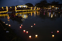 Hoi An Lantern Festival - The monthly Hoi An lantern festival falls on the night of the full moon, when bright lights are swapped for silk lanterns and candles.  Lighting a small lantern and sending it down the river is a popular custom here.  In the evenings hundreds of brightly coloured lanterns can be seen floating along the river.  To avoid the crowds in town, many prefer to boat a asampanboat to launch their lantern on the river and avoid the mob entirely.  If you're not in town for the lantern festival,  night-time Hoi An is always lit up with silk lanterns, one of the towns specialties.