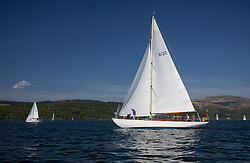 Sailing - SCOTLAND  - 25th May 2018<br /> <br /> 3rd days racing the Scottish Series 2018, organised by the  Clyde Cruising Club, with racing on Loch Fyne from 25th-28th May 2018<br /> <br /> 312C, Kelana, Mrs Marjorie Grant, RNCYC, McGruer sloop<br /> <br /> Credit : Marc Turner<br /> <br /> Event is supported by Helly Hansen, Luddon, Silvers Marine, Tunnocks, Hempel and Argyll & Bute Council along with Bowmore, The Botanist and The Botanist