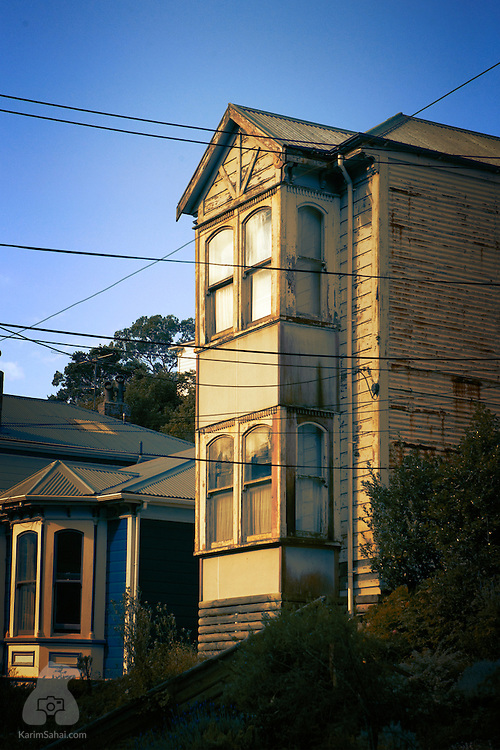 Old house on Epuni street, in the Aro Valley suburb of Wellington, New Zealand.