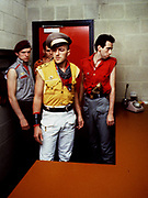 The Clash backstage at the Manchester Apollo 1980