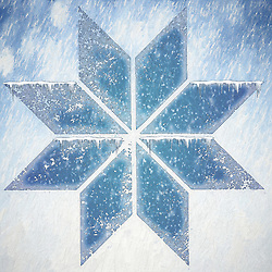 A chilly winter snowflake creation.