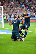 Olivier Giroud (FRA) scored a goal and celebrated it with Kylian Mbappe (FRA) during the UEFA Nations League, League A, Group 1 football match between France and Netherlands on September 9, 2018 at Stade de France stadium in Saint-Denis near Paris, France - Photo Stephane Allaman / ProSportsImages / DPPI