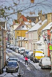 01 February 2019. Montreuil Sur Mer, Pas de Calais, France.<br /> The ancient citadel town of Montreuil Sur Mer awoke to a blanketing of fresh snow. <br />  <br /> L'ancienne citadelle de Montreuil Sur Mer s'est réveillée avec une couverture de neige fraîche.<br /> <br /> Photo©; Charlie Varley/varleypix.com