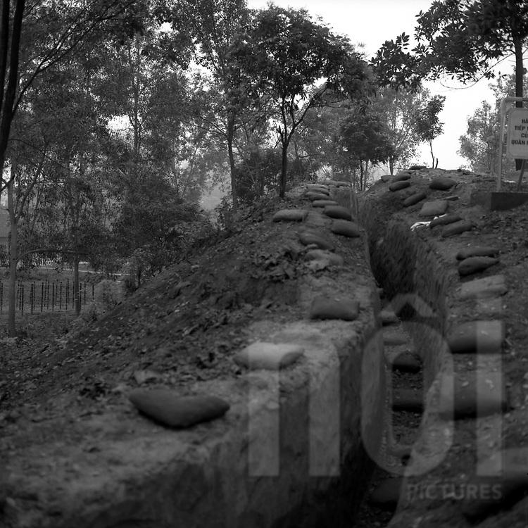 Trench in the area of Dien Bien Phu, Vietnam, Asia