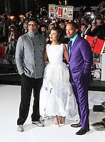 Samuel L Jackson; Kerry Washington; Jamie Foxx, Django Unchained UK film premiere, Empire Cinema Leicester Square, London UK, 10 January 2013, (Photo by Richard Goldschmidt)