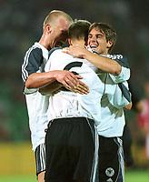 Fotball: 0:2 Jubel, Carsten JANCKER, Torschütze Sebastian KEHL, Sebastian DEISLER<br />        Ungarn - Deutschland  2:5<br />Ungarn-Tyskland 2-5