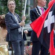 NLD/Amsterdam/20120804 - Canalparade tijdens de Gaypride 2012, boot gemeente Amsterdam
