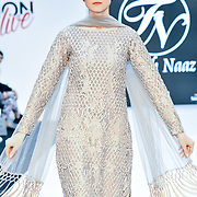 Naaz Couture showcases its latest collection at Modest Fashion Live at Olympia London on 14 April 2019, London, UK.
