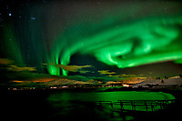 Northern Lights from Telegrafbukta Beach in Tromsø Norway. Image taken with a Nikon D800 and 24 mm f/1.4 lens (ISO 800, 24 mm, f/2, 8 sec). Raw image processed with Capture One Pro