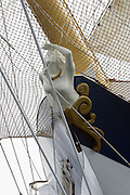 Marie, the daughter of ship owner Mikae?l Krafft, graces the bow of the Royal Clipper.
