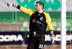 Goalkeeper of Drava Branko Bucar at 18th Round of PrvaLiga football match between NK Olimpija and NK Labod Drava, on November 21, 2009, in ZAK, Ljubljana, Slovenia. Olimpija defeated Drava 3:0. (Photo by Vid Ponikvar / Sportida)