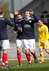 Falkirk's Blair Alston cele scoring their third goal..Falkirk 3 v 2 Ayr United, 5/5/2012..©Michael Schofield..