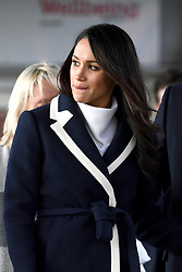 Meghan Markle leaves after a visit to Nechells Wellbeing Centre in Birmingham.