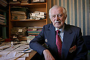 Moscow, Russia, 30/03/2004..Author Mikhail Mikhalkov, whose brother Sergei Mikhalkov is the composer of the lyrics for both the Russian and Soviet national anthems