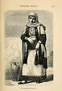Albanian Woman engraving on wood From The human race by Figuier, Louis, (1819-1894) Publication in 1872 Publisher: New York, Appleton