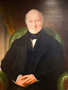 Oil painting portrait Sir Gabriel Goldney MP (lived 1813-1900) with permission of Chippenham museum, Wiltshire, England, UK