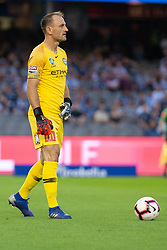 February 23, 2019 - Melbourne, VIC, U.S. - MELBOURNE, VIC - FEBRUARY 23: Melbourne City goalkeeper Eugene Galekovic (18) looks on at round 20 of the Hyundai A-League Soccer between Melbourne City FC and Melbourne Victory on February 23, 2019 at Marvel Stadium, VIC. (Photo by Speed Media/Icon Sportswire) (Credit Image: © Speed Media/Icon SMI via ZUMA Press)