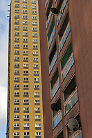 Tower blocks of the Red Road Flats in Glasgow, earmarked for demolition. They were subsequently demolished in 2015.