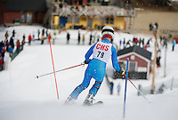 Concord High School's David Schmitt approaches the finish line during Saturday's Capital Cup at Blackwater/Proctor Ski Area.  (Karen Bobotas/for the Concord Monitor)