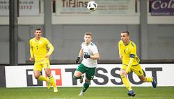 NEWPORT, WALES - Tuesday, November 19, 2019: Wales' Joseph Adams during the UEFA Under-19 Championship Qualifying Group 5 match between Kosovo and Wales at Rodney Parade. (Pic by Laura Malkin/Propaganda)