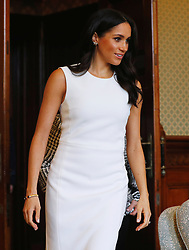 The Duchess of Sussex at Admiralty House in Sydney on the first day of the royal couple's visit to Australia.